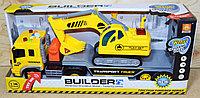 570A Bvilder желтый трейлер с эксковатором 4функции 41*18см
