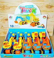 210-8 Cartoon truck Эксковатор 10шт в уп, цена за 1шт 13*10см, фото 3