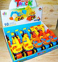 210-8 Cartoon truck Эксковатор 10шт в уп, цена за 1шт 13*10см, фото 1