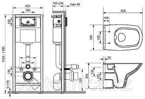 Комплект: NATURE NEW CLEAN ON (наст. с DP lift+инст.VECTOR с кн. INTERA хром глянц), белый, Сорт1,, фото 3