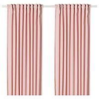HANNALENA ХАННАЛЕНА Затемняющие гардины, 2 шт., светло-розовый, 145x300 см