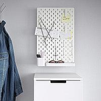 SKÅDIS СКОДИС Настенная панель, комбинация, белый, 36x56 см