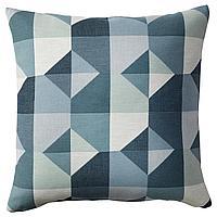 SVARTHÖ СВАРТХО Чехол на подушку, зеленый/синий, 50x50 см
