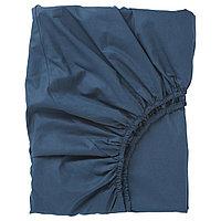 ULLVIDE УЛЛЬВИДЕ Простыня натяжная, темно-синий, 90x200 см