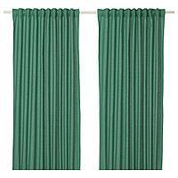 ANNALOUISA АННАЛУИЗА Гардины, 2 шт., зеленый, 145x300 см