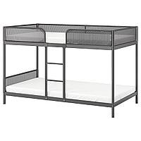 TUFFING ТУФФИНГ Каркас 2-ярусной кровати, темно-серый, 90x200 см