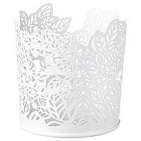 SAMVERKA САМВЕРКА Подсвечник для греющей свечи, белый, 8 см