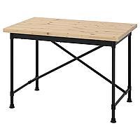KULLABERG КУЛЛАБЕРГ Письменный стол, сосна/черный, 110x70 см