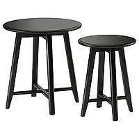 KRAGSTA КРАГСТА Комплект столов, 2 шт, черный,