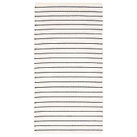 TÖRSLEV ТЁРСЛЕВ Ковер безворсовый, полоска белый/черный, 80x150 см