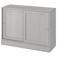 HAVSTA ХАВСТА Шкаф с цоколем, серый, 121x47x89 см