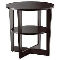 VEJMON ВЕЙМОН Придиванный столик, черно-коричневый, 60 см