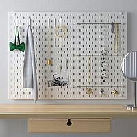 SKÅDIS СКОДИС Настенная панель, комбинация, белый, 76x56 см