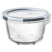 IKEA 365+ ИКЕА/365+ Контейнер для продуктов с крышкой, круглой формы стекло/пластик, 600 мл