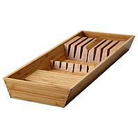 VARIERA ВАРЬЕРА Подставка для ножей, бамбук, 20x50 см