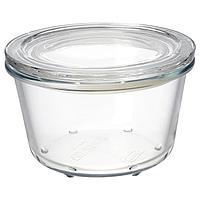 IKEA 365+ ИКЕА/365+ Контейнер для продуктов с крышкой, стекло, 600 мл