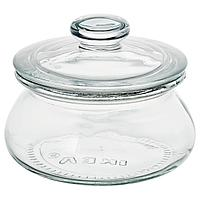 VARDAGEN ВАРДАГЕН Банка с крышкой, прозрачное стекло, 0.3 л