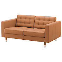 LANDSKRONA ЛАНДСКРУНА 2-местный диван, Гранн/Бумстад золотисто-коричневый/металл,