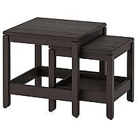 HAVSTA ХАВСТА Комплект столов, 2 шт, темно-коричневый,