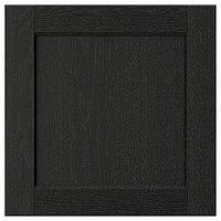 LERHYTTAN ЛЕРХЮТТАН Дверь, черная морилка, 40x40 см