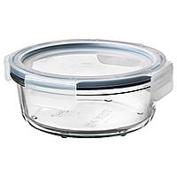 IKEA 365+ ИКЕА/365+ Контейнер для продуктов с крышкой, круглой формы стекло/пластик, 400 мл