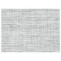 SNOBBIG СНУББИГ Салфетка под приборы, белый/черный, 45x33 см