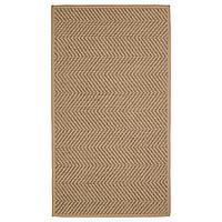 HELLESTED ХЕЛЛЕСТЕД Ковер безворсовый, неокрашенный/коричневый, 80x150 см