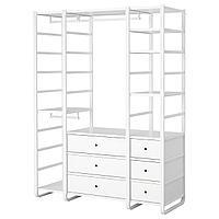 ELVARLI ЭЛВАРЛИ 3 секции, белый, 165x55x216 см