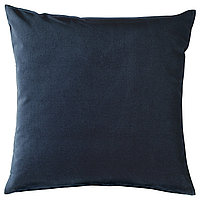 SANELA САНЕЛА Чехол на подушку, темно-синий, 50x50 см
