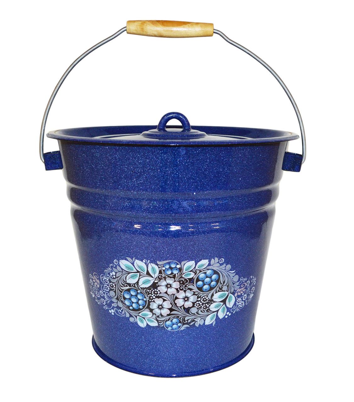 Ведро с крышкой Голубика 12 литров