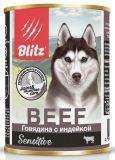 BLITZ BEEF 400г (Говядина с индейкой) – влажный корм для собак