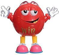 Игрушка музыкальная «Танцующая конфета M&M's» Qbean Dance (Красный)