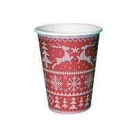 """Стакан для холодных и горячих напитков, 0.3/0.364л, """"Зимний узор"""", 50 шт"""