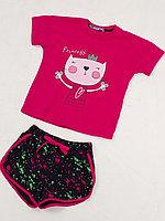 Batik Костюм футболка и шорты для девочки (02591_BAT)