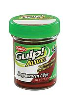 Мягкая приманка Berkley Gulp! Alive! Angleworm (1140587-GR=Red Wiggler Angleworm (червь))