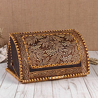Хлебница «Рябинушка», шлем, 28×19×16 см, береста