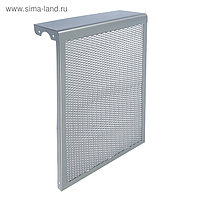 "Экран на чугунный радиатор ""Лидер"", 390х610х150 мм, 4 секции, металлический, цвет металлик"