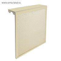 "Экран на чугунный радиатор ""Лидер"", 490х610х150 мм, 5 секций, металлический, бежевый"