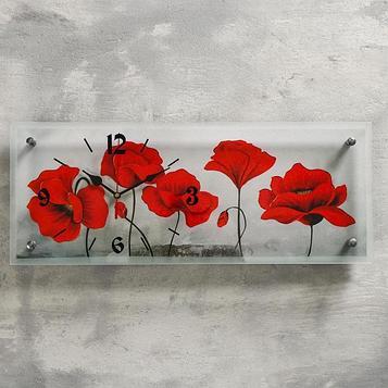 """Часы настенные, серия: Цветы, """"Цветы"""", 20х50 см"""
