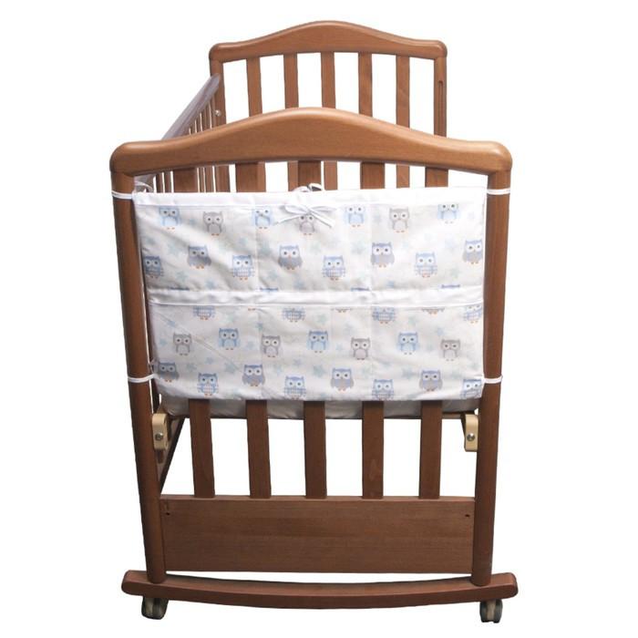 Карман «Совушки», 6 отделений, размер 59 × 42 см, цвет голубой