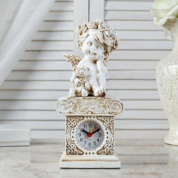 "Часы настольные  ""Ангел с медведем"", h=24 см"