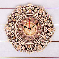 Часы «Узор», 30×30×3 см, береста