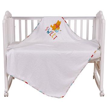 Плед детский «Винни Чудесный день», размер 110 × 140 см, велсофт, разноцветный