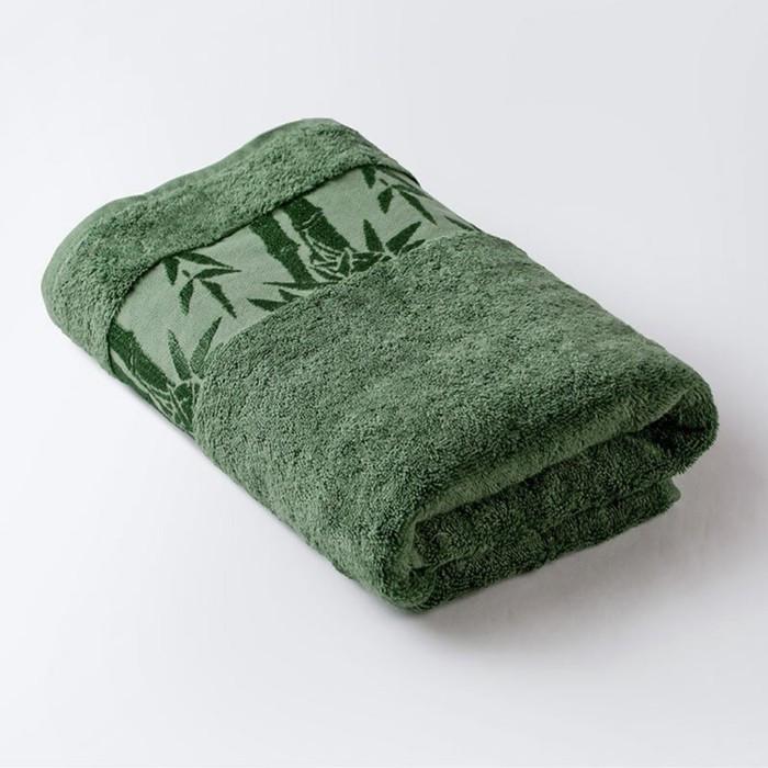 Полотенце «Бамбук», размер 70 × 130 см, махра, цвет зелёный
