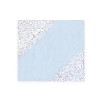 Плед «Праздничный», размер 90 × 90 см, голубой