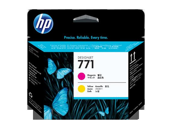 HP CE018A Печатающая головка пурпурный и желтый HP 771 для Designjet Z6200/Z6800