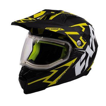 Шлем FXR Octane X Deviant с подогревом, размер S, чёрный, жёлтый