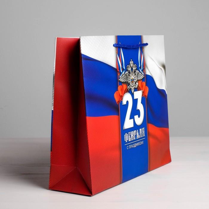 Пакет ламинированный горизонтальный «С Праздником!», ML 27 × 23 × 8 см - фото 3