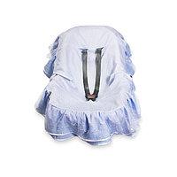 Пелёнка для автокресла на выписку «Фламинго», размер 60 х 83 см, голубой