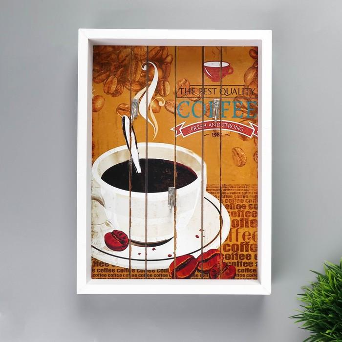 """Крючки декоративные дерево """"Аромат кофе"""" 25х18х4 см"""